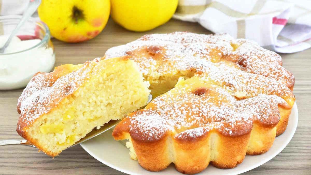 Gâteau yaourt et pommes