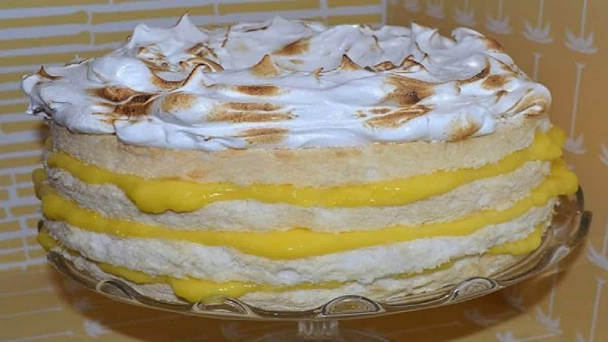Gâteau des anges au citron