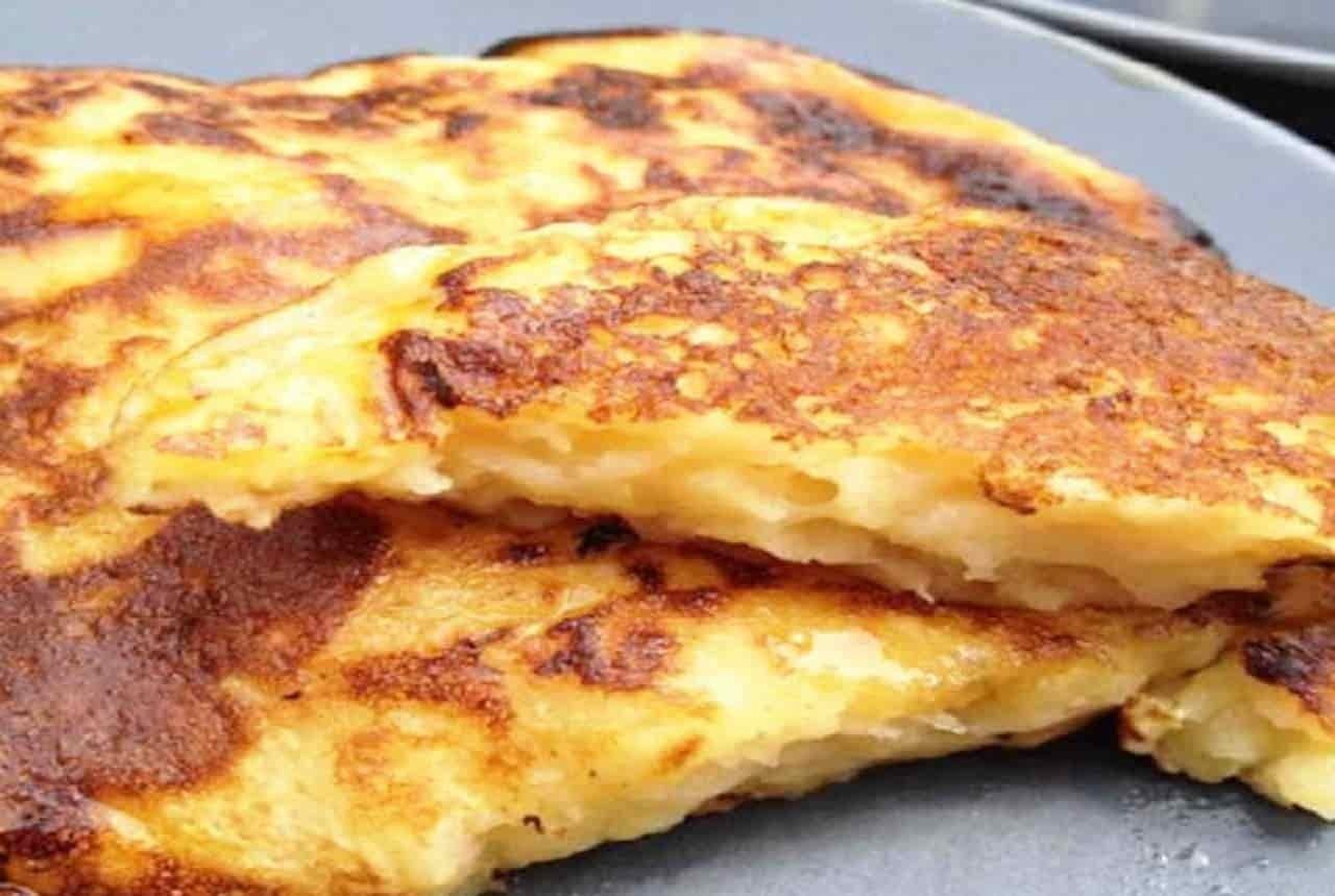 Crêpes légères pommes fromage blanc
