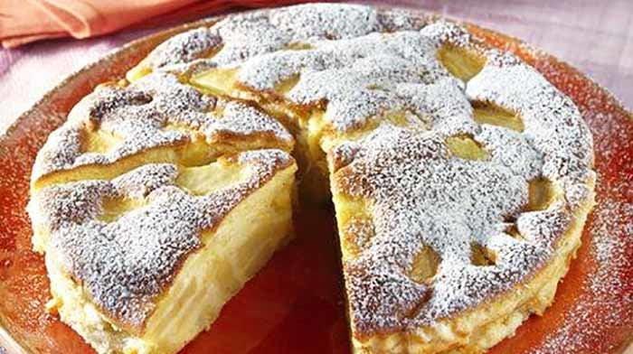 Gâteau Flan aux Pommes délicieux et très riche!!