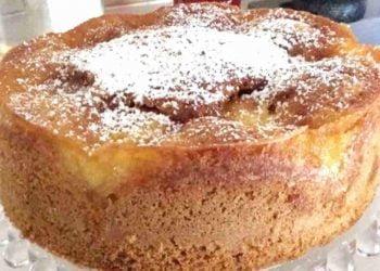 Voici le Gâteau aux pommes Coulant à souhait facile et rapide!!