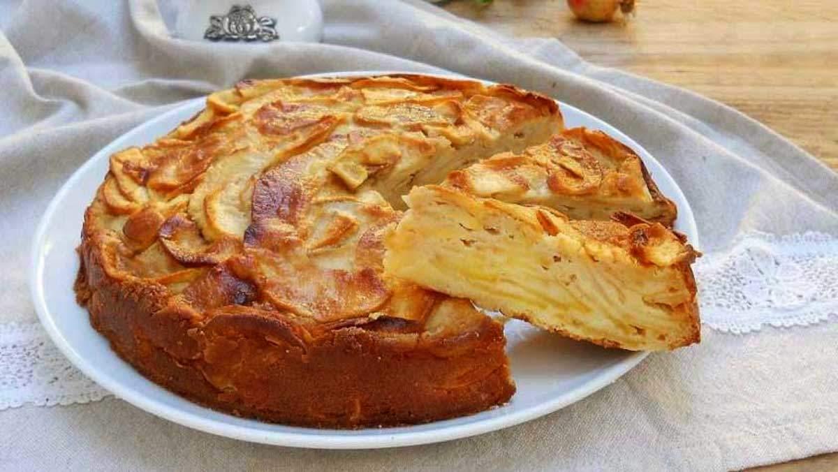 Gâteau aux pommes invisible