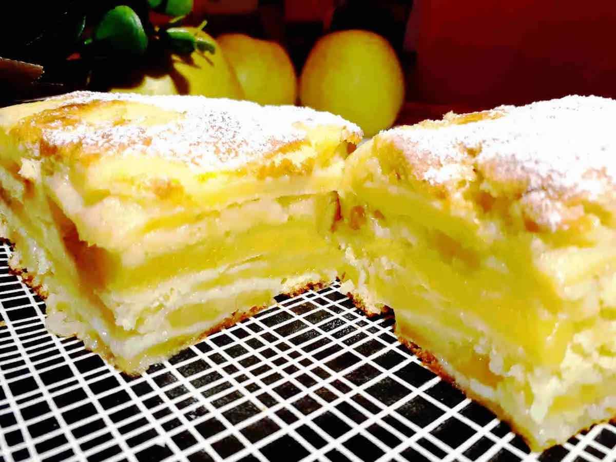 Gâteau invisible aux pommes ultra fondant